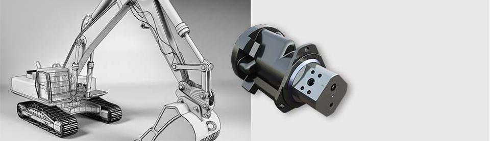 hydraulische Drehverteiler für Kettenbagger